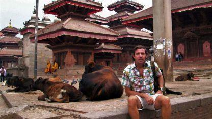Pagodas y vacas sagradas en la Plaza Durbar, Patrimonio de la Humanidad