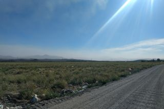 Así se ve la nube desde la ciudad de Malargüe.