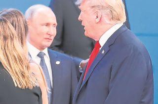 Vladimir Putin y Donald Trump, durante el G-20, en Buenos Aires.