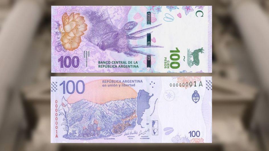 Así es el nuevo billete de 100 pesos que salió hoy a la calle