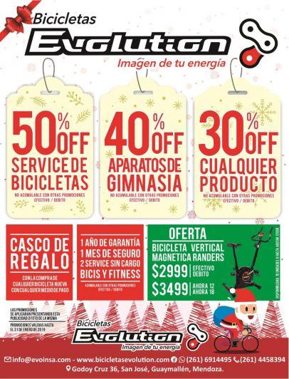 Evolution te acerca las mejores promos en bicicletas para Navidad y Reyes