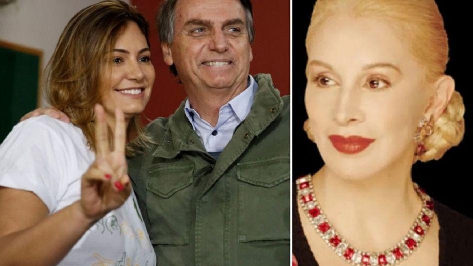 Papelón de Michelle Bolsonaro: confundió a Evita con Nacha Guevara