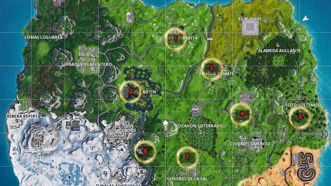 Fortnite Donde Encontrar Los Aros Dorados