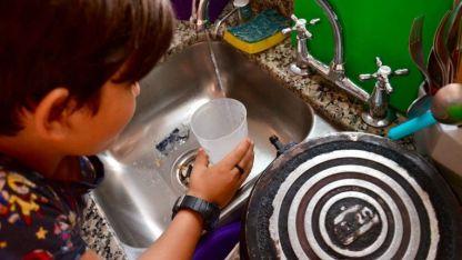 En algunos hogares había muy baja presión y en otros prácticamente no tenían agua.