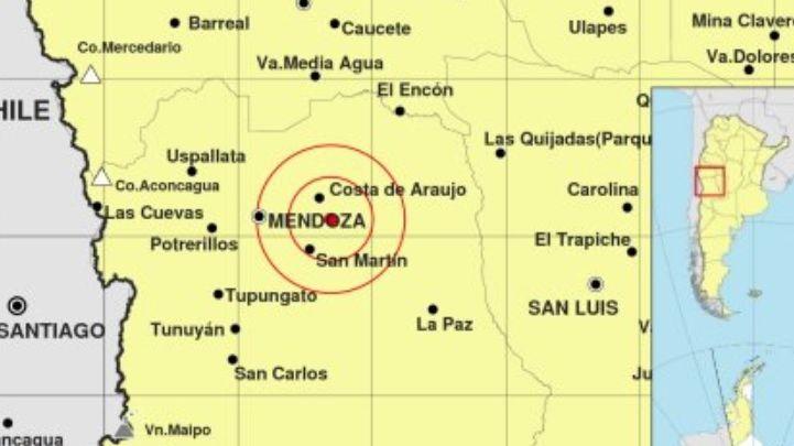 Un sismo en el Este despertó esta mañana a los mendocinos