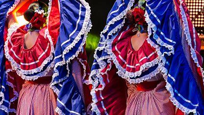Trajes típicos de la zona de Limón en Costa Rica.