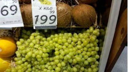 Al público. En Buenos Aires el kilo de uva se vende a $ 199.