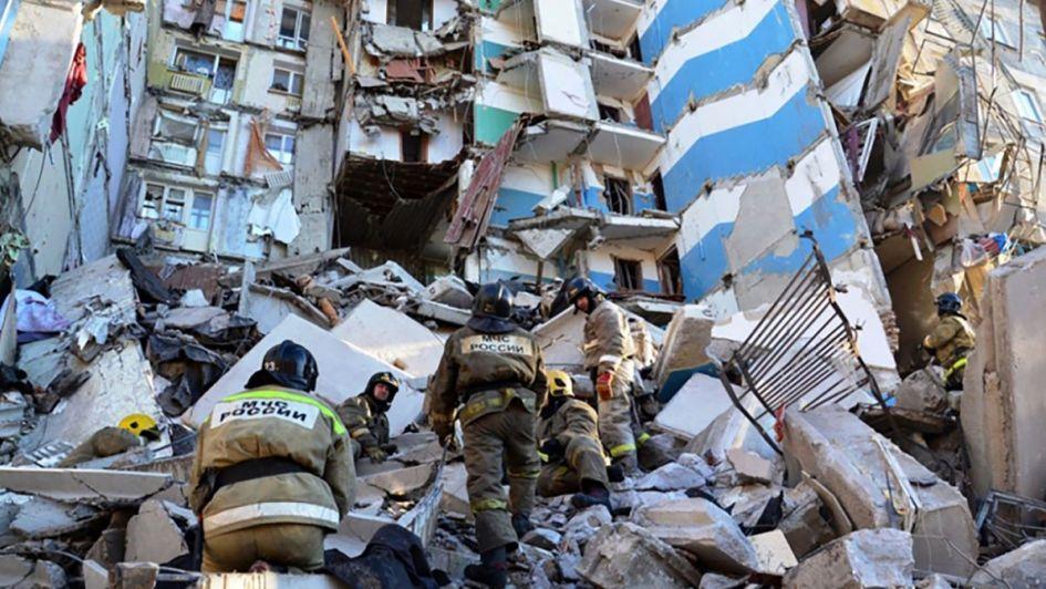 Explosión en edificio dejó 4 muertos en Rusia