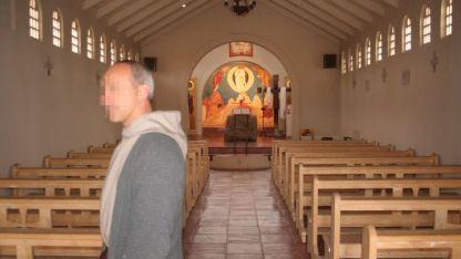 Uno de los monjes denunciados, en el monasterio de Tupungato.