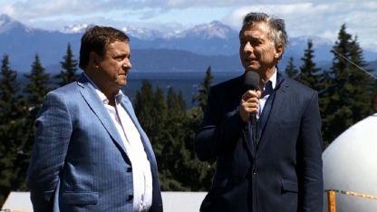 Macri, junto al gobernador de Río Negro, Alberto Weretilneck.