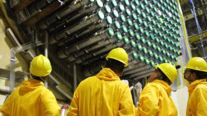 Los tubos de combustible del reactor.