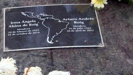 Arturo Roig: sus cenizas descansan en Lavalle