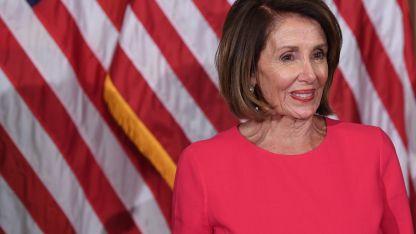 """Nancy Pelosi tiene fama de mujer """"dura"""", y ella dice que se siente mucho más respetada que criticada."""