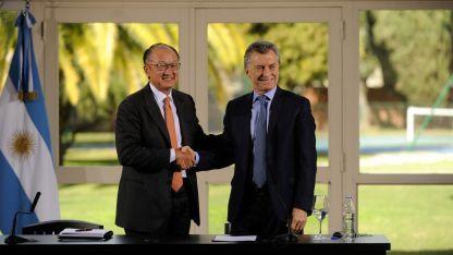 Mauricio Macri recibió y Jim Kim en la quinta presidencial de Olivos