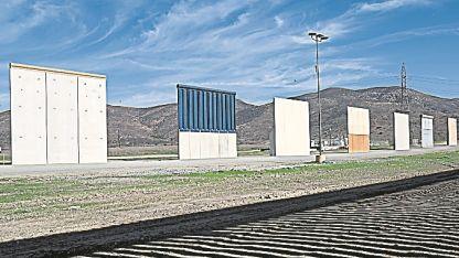 Modelo. Prototipos de muros exhibidos en San Diego.
