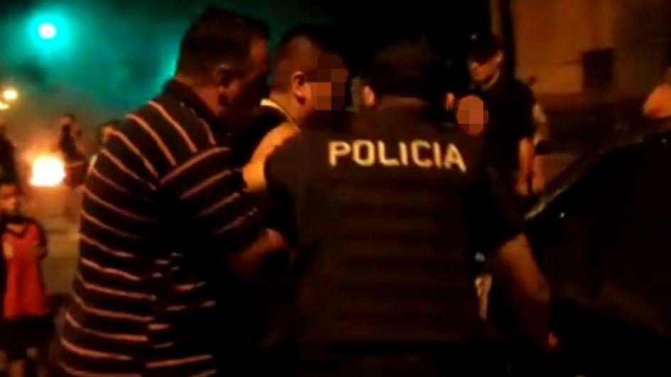Videos: protesta contra el MendoTran en Las Heras terminó con incidentes y detenidos