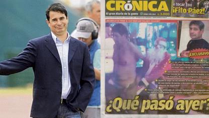 Rolando Chilavert y la tapa del diario Crónica de Paraguay.