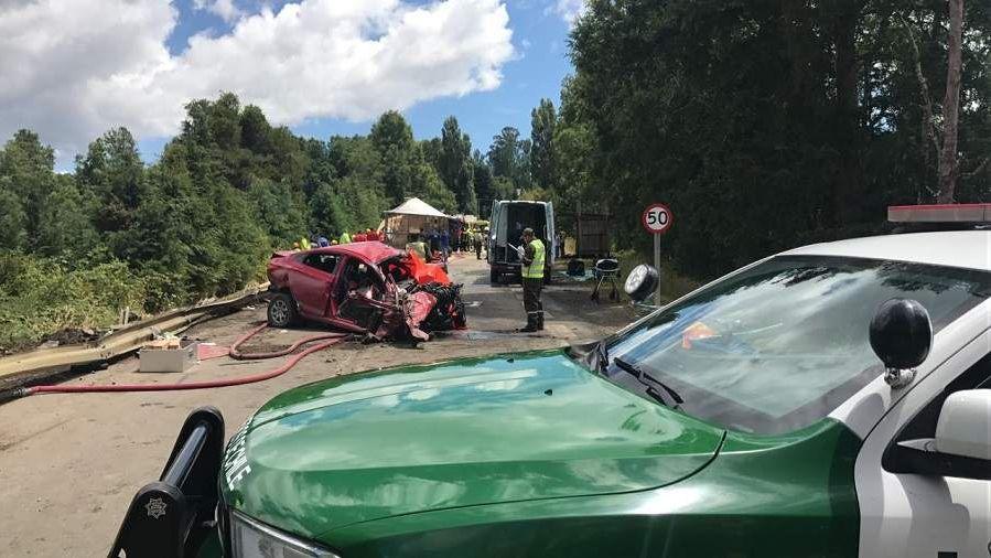 Un impactante choque múltiple en una ruta de Chile dejó 9 muertos