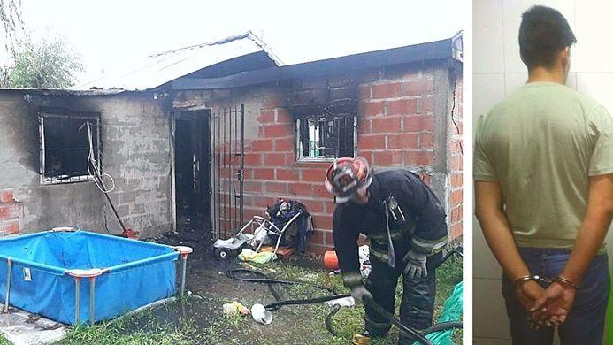 Golpeó a su ex embarazada y le quemó la casilla