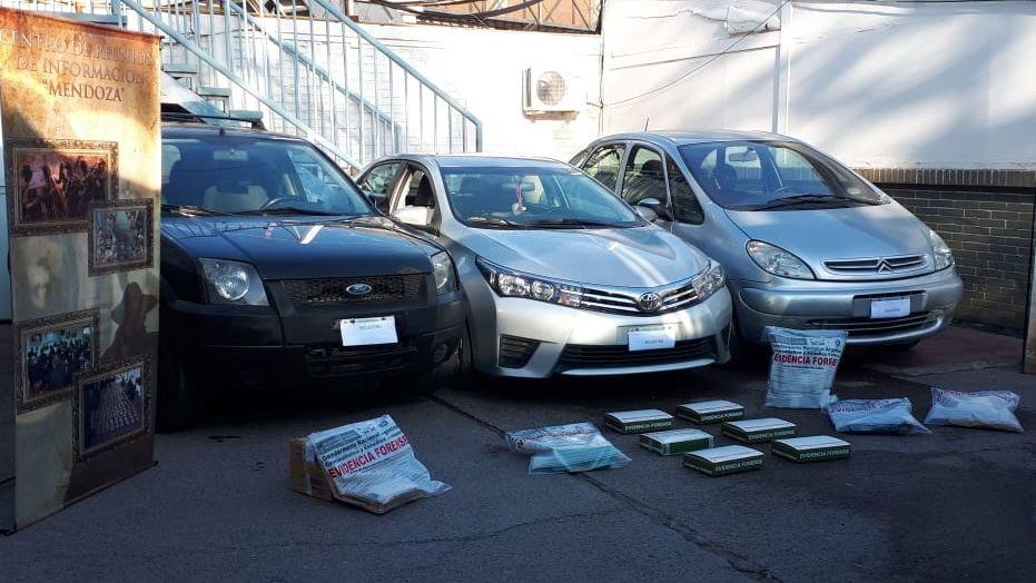 Cayó una banda narco con más de 3 kilos de cocaína en Guaymallén y en Lavalle