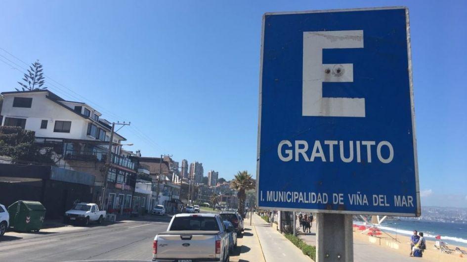 Atención viajeros mendocinos: estacionar en Viña del Mar y Reñaca es gratuito