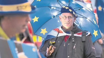Contra el Brexit. Un londinense se expresa a favor de que Gran Bretaña permanezca en la UE.