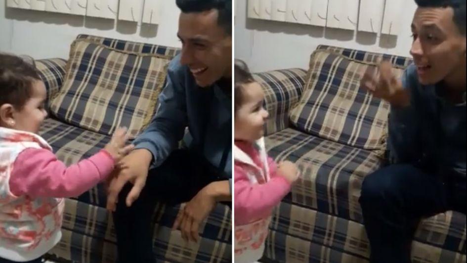 [Video] Niña que se intenta comunicar con su papá conmueve a internet