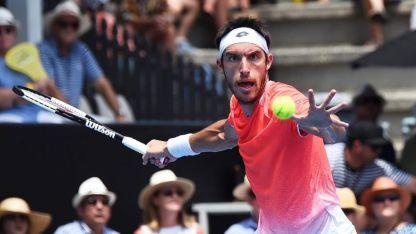 Mayerl logró avanzar a la siguiente ronda del primer Grand Slam del año.