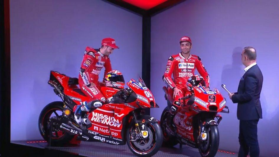 Presentado el equipo Ducati MotoGP 2019 de Dovizioso y Petrucci