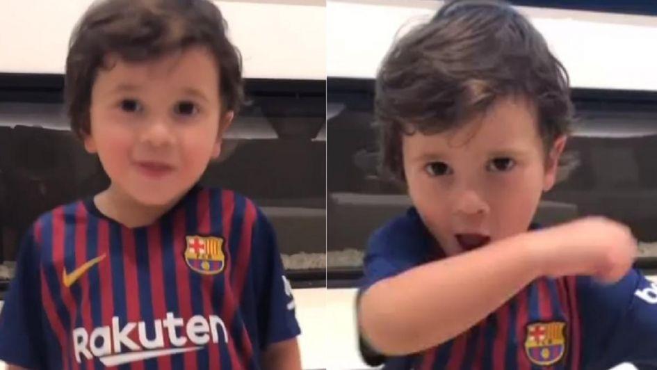 La divertida travesura de Mateo Messi que compartió Antonela Roccuzzo