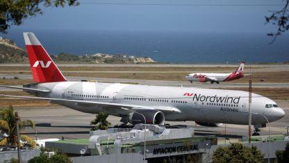 El avión ruso en Caracas.
