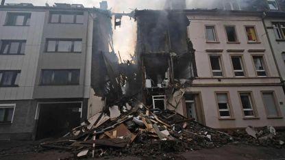 Así quedó el edificio tras la explosión.