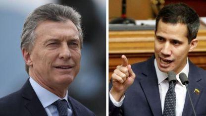 Buena relación. El mandatario argentino y Juan Guaidó.