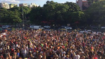 En Buenos Aires, el punto de congregación fue la facultad de Derecho de la UBA.