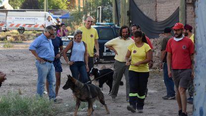 El olfato de la perra Ruca permitió hallar los cuerpos.