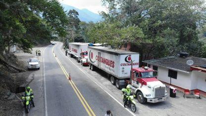 Colombia. Los primeros containers con ayuda proveniente de Estados Unidos llegaron ayer a Cúcuta.