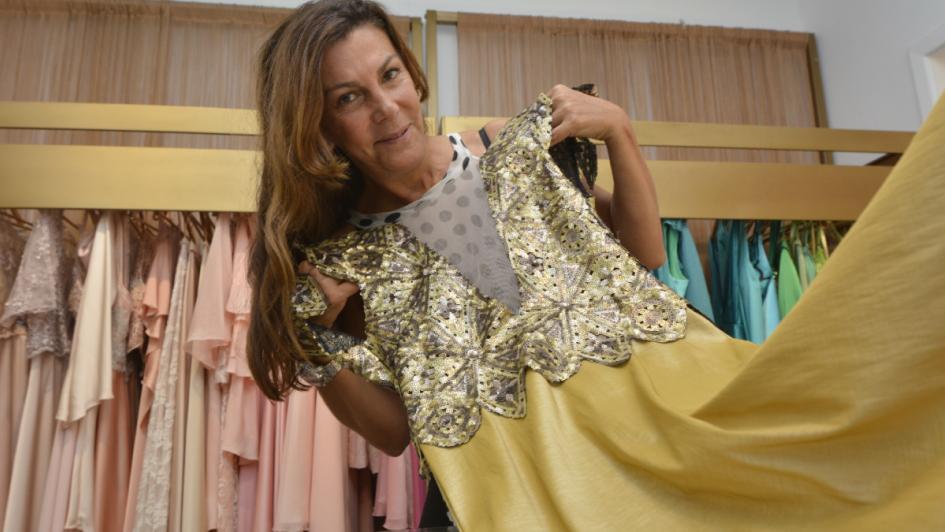 Dalila Tahan: la diseñadora pondrá montañas a los vestidos reales