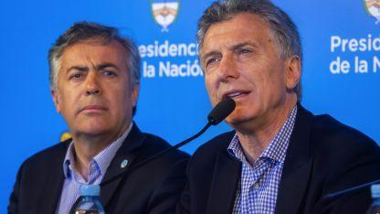 Cornejo junto a Macri, en una visita a Mendoza en septiembre pasado.