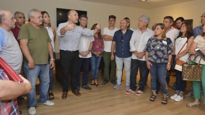 Congresales. Todos los dirigentes peronistas (salvo Sagasti) dijeron presente ayer en el encuentro.