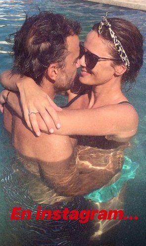 Paula Chaves y Pedro Alfonso mostraron cómo postean fotos románticas