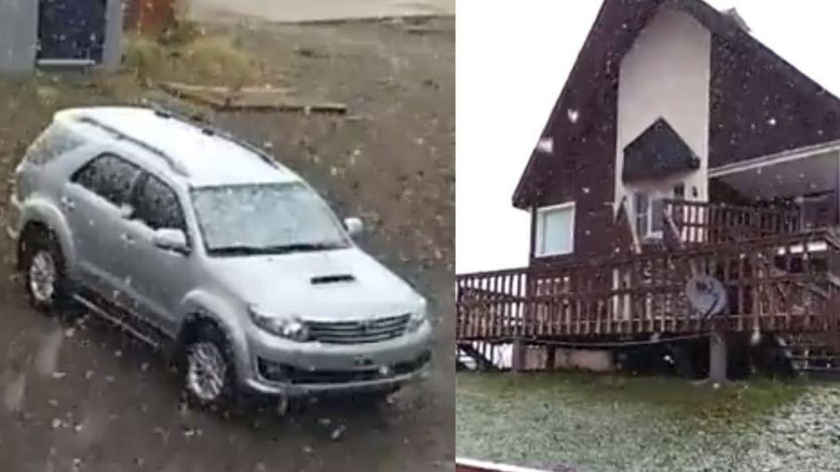 Verano helado: Malargüe se vistió de blanco por una sorpresiva nevada