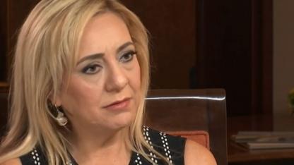 Lorena Bobbitt en la entrevista con Telemundo.