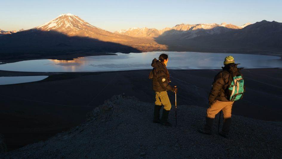 Atención: cerraron la Laguna del Diamante por un intenso temporal de nieve