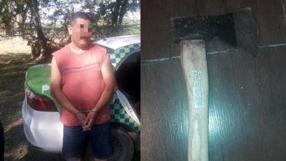 Pedro Sosa (44) confesó el femicidio. En su bolso tenía el hacha presuntamente usada para el crimen.