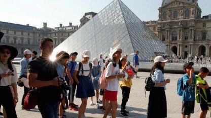 Estadounidenses, chinos y franceses. la mayoría de los visitantes son extranjeros.