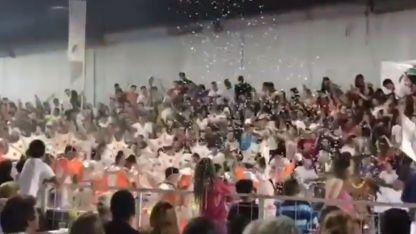 Ocurrió en medio de la celebración