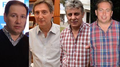 Roberto Righi (Lavalle); Emir Félix, (San Rafael); Jorge Giménez, (San Martín) y Martín Aveiro (Tunuyán).