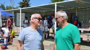 Galliano y Marcellini en amena charla.