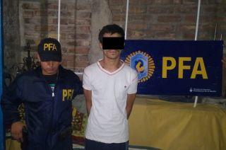 Uno de los detenidos en Guaymallén.