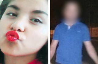 Víctima y victimario. Camila y el acusado, momentos después del hecho.